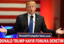 Donald Trump Hayır Fonuna Denetim