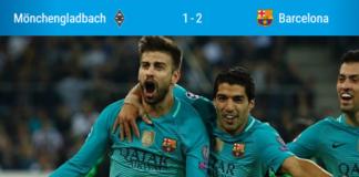 Mönchengladbach Barcelona'ya Direnemedi