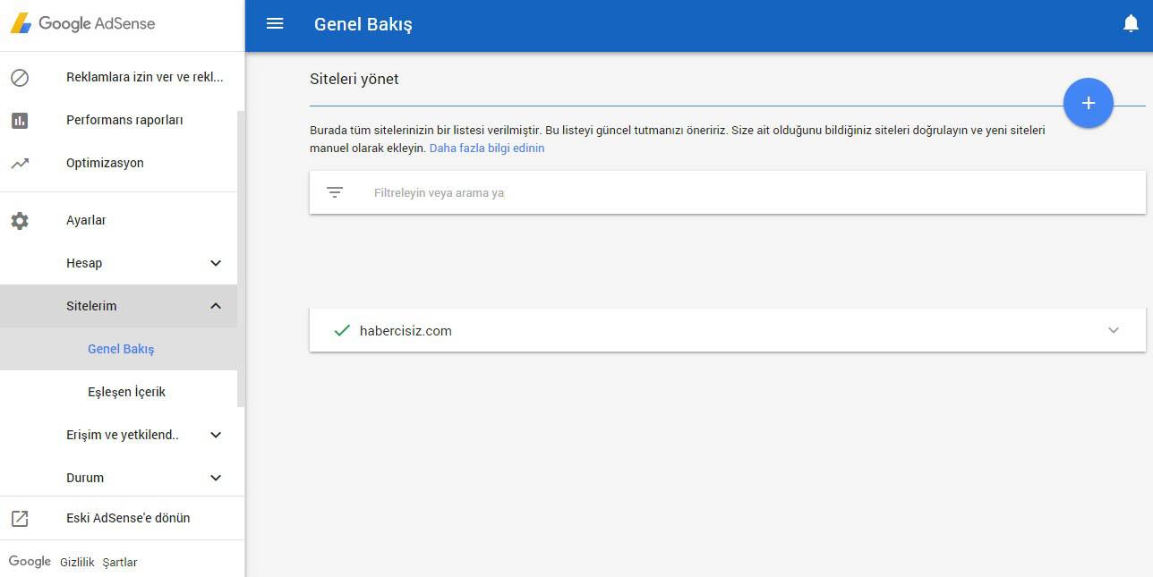 Adsense'de size ait olmayan siteleri engelleme